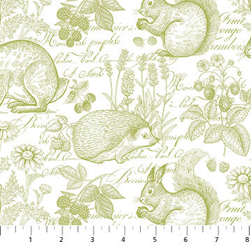 Briarwood by Michel Design Works - Animals in olive green