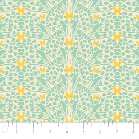 Monarch Grove - Kaleidoscope in Mint Green