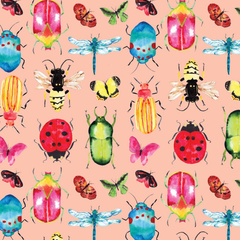 Camelot fabrics - Critters in pink