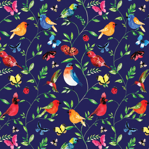 Camelot fabrics - Botanical in Navy