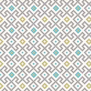Lindos - Grey Greek Tiles With Gold