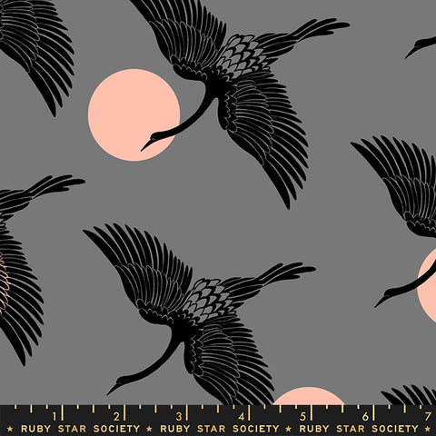 Florida by Sarah Watts - Egrets in Slate Grey