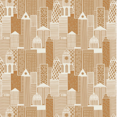 City Lights - City Buildings in Copper