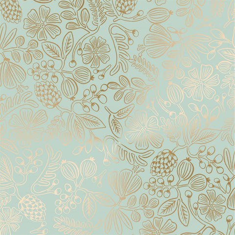 Primavera by Rifle Paper Company - Moxie Floral in Mint Metallic