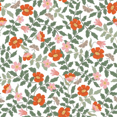 Rifle Paper Company Strawberry Fields - Primrose in Ivory