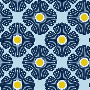 Loes van Ooosten for Cotton + Steel - On A Spring Day - Blossom in Light Blue
