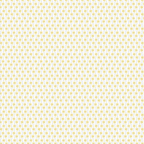 Camelot Fabrics - Meadow Haze by VIcky Yorke - Daisies in Yellow