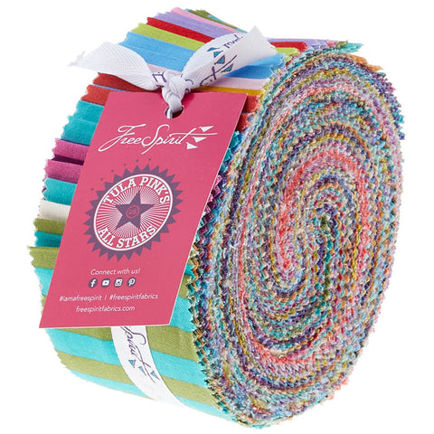 Tula Pink All Stars Dots and Stripes Design Roll - Jelly Roll