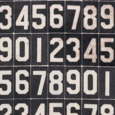 Tim Holtz Foundations - Eclectic Elements - Numbers in Black