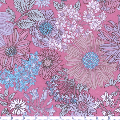 Memoire a Paris Cotton Lawn- Pink