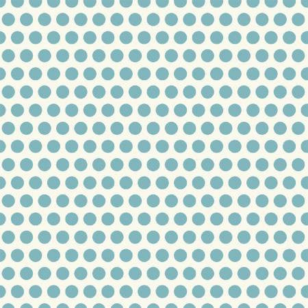 Uppercase Fabric by Janine Vangool Turquoise Dotty