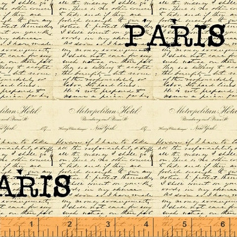 Destination Paris - Words Creme