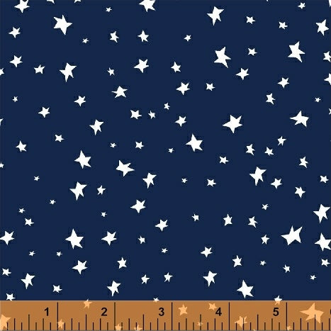 Aliens in Space - Night Sky in Navy