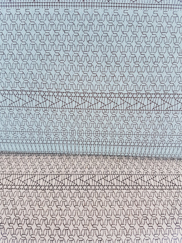 Yuwa Macrame Canvas - Teal