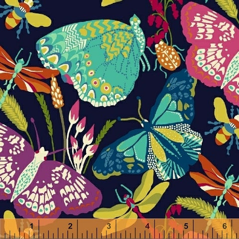 Butterfly Dance by Sally Kelly - Butterfly Dance in Navy