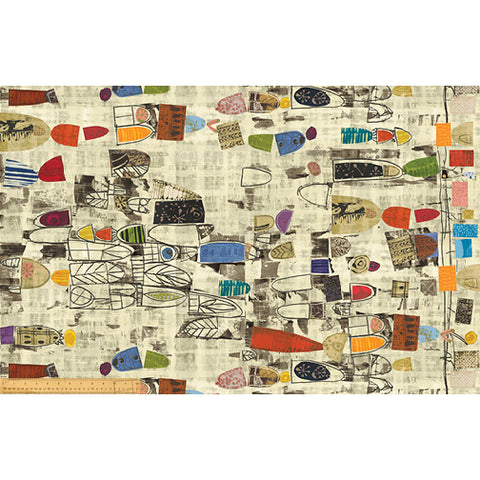 Art History / Treasure Hunt Canvas by Marcia Derse - on cream