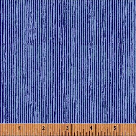 Sweet Oak by Striped Pear Studio - Stripes in Blue