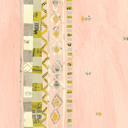 Carrie Bloomston Wish - Pink Border with Metallic