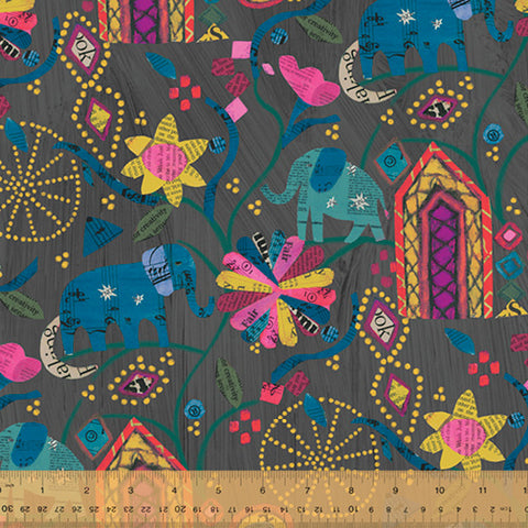 Carrie Bloomston Wish - Midnight Garden of Dreams Linen/Cotton Blend