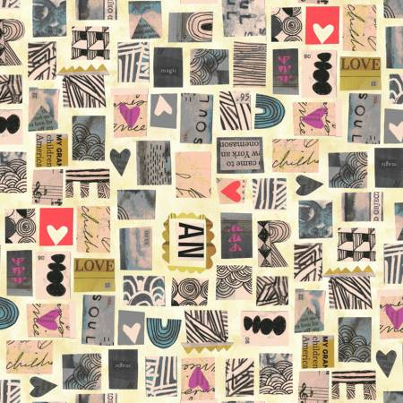 Carrie Bloomston Wish - Old Paper Postage Stamps