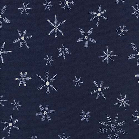 Cotton + Steel Frost - Flurry in Navy