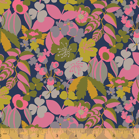 Solstice by Sally Kelly for Windham Fabrics - Camelia in Cotton Canvas