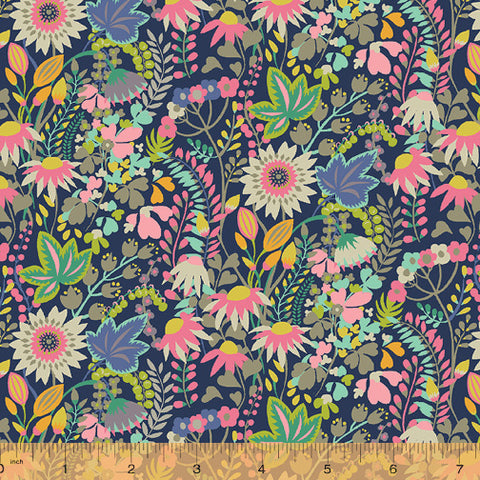 Solstice by Sally Kelly for Windham Fabrics - Flower Bed in Multi