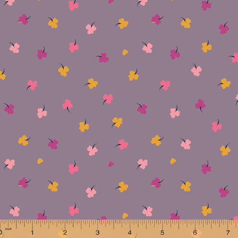 Solstice by Sally Kelly for Windham Fabrics - Clover in Mauve