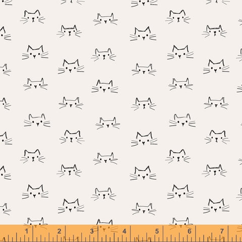 Mod Cat by Whistler Studios - Cat Faces in Ivory