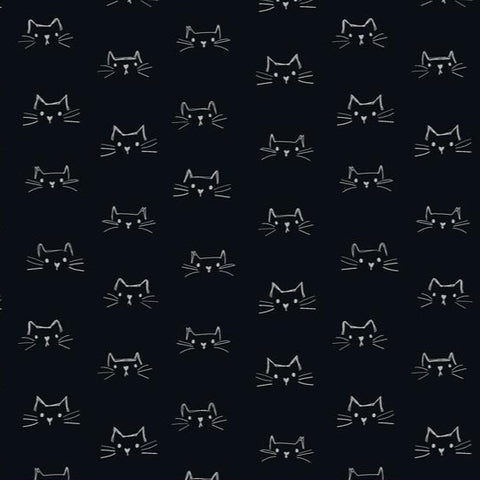 Mod Cat by Whistler Studios - Cat Faces in Black