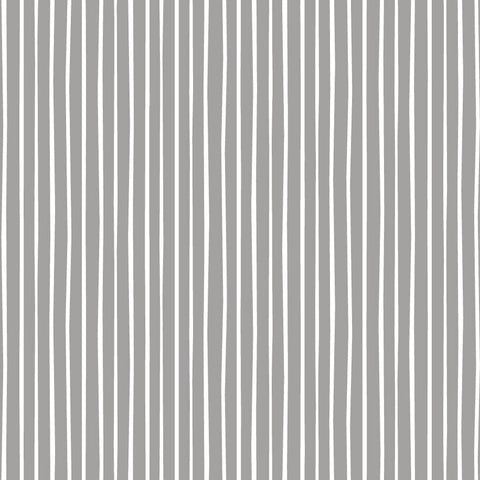 Felicity Fabric Forest Walk - Rows in Grey