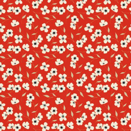 Camelot Fabrics - Oxford - Library Floral in Red