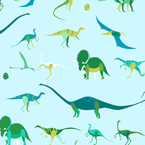 Natural History by Lizzy House Dinosaurs Green