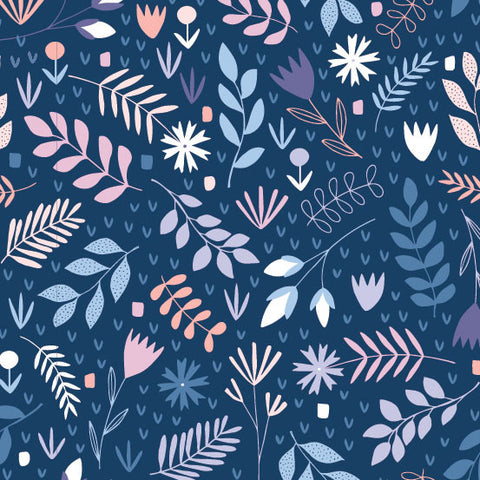 Floral Splendor by Cathy Nordstrom Botanical Garden in Blue