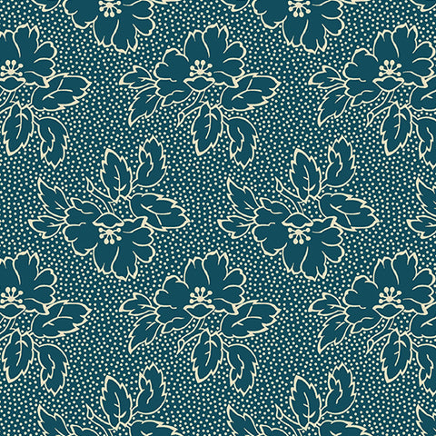 Edyta Sitar Secret Stash Cool Tones - Silhouette Floral in Tea Blue