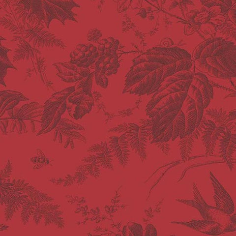 Edyta Sitar Braveheart and Evergreen - Toile in Crimson