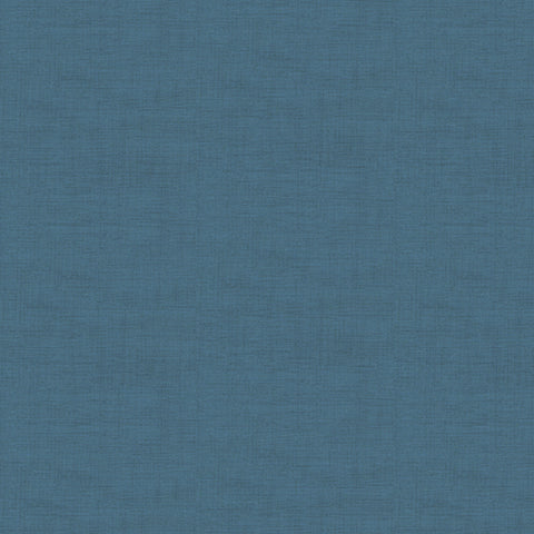 Makower Linen Texture Denim Blue