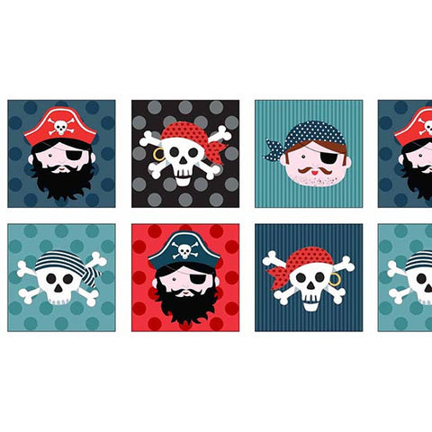 Makower Pirates - Pirate Faces