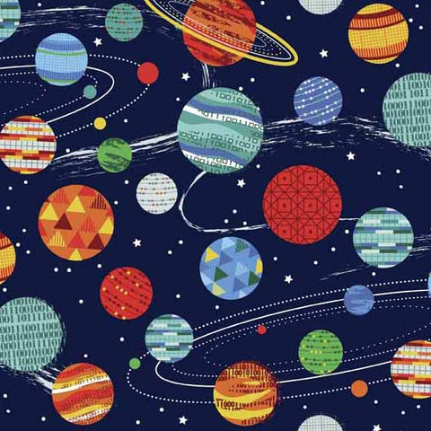 Galaxy by Henley Studios Planets Blue
