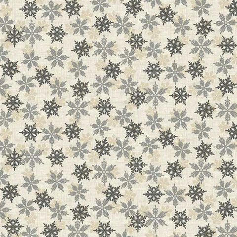 Makower Scandi Snowflakes in Grey