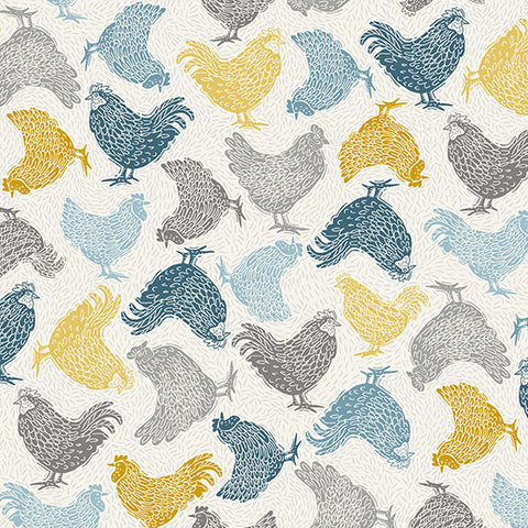 Grove by Makower - Chickens in Cream