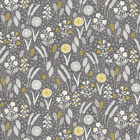 Grove by Makower - Meadow in Grey