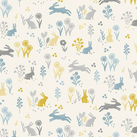 Grove by Makower - Rabbits in Cream