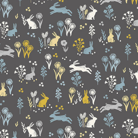 Grove by Makower - Rabbits in Grey
