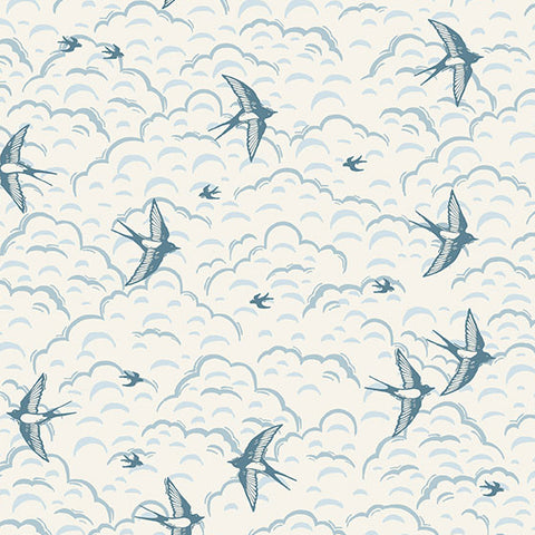 Grove by Makower - Swallows in Cream