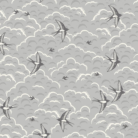 Grove by Makower - Swallows in Grey