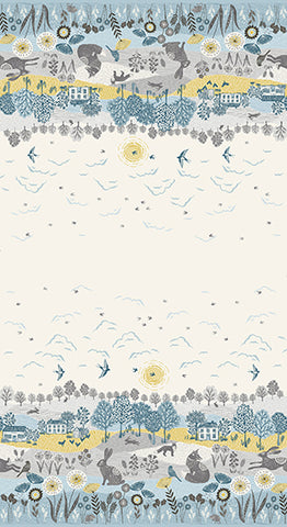 Grove by Makower - Scenic Double Border Print in Multi