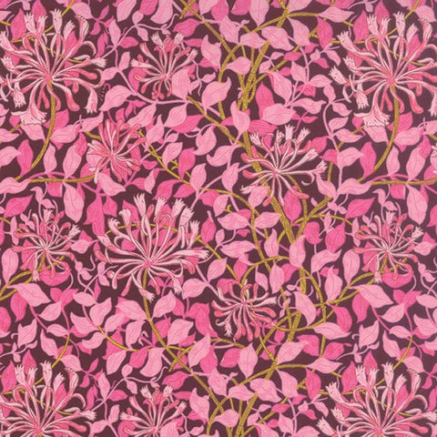 Morris Jewels - Floral Reproduction Honeysuckle Pink