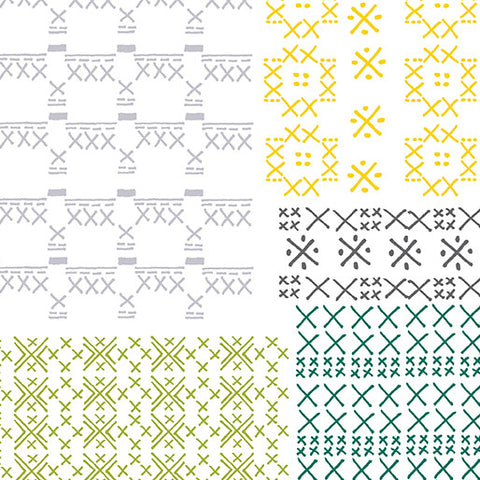Sew Sew Cross Stitch Geo White