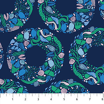 Salt Wind by Emily Taylor - Sea Wreath in Navy